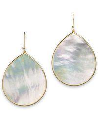 Ippolita - 18k Gold Polished Rock Candy Jumbo Teardrop Earrings In Mother-of-pearl - Lyst