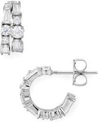 Nadri - Astor Double Hoop Earrings - Lyst