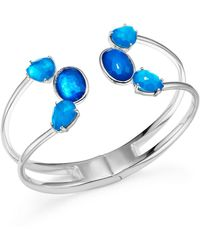 Ippolita - Sterling Silver Rock Candy® Wonderland Mixed Doublet Open Wire Hinged Bangle In Island - Lyst
