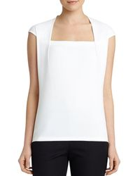 Lafayette 148 New York - Giada Cap-sleeve Top - Lyst