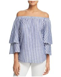 Beach Lunch Lounge - Striped Off-the-shoulder Top - Lyst