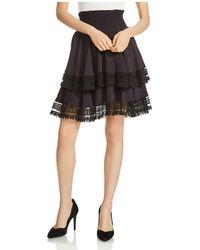 Maje | Jaglia Tiered Lace-trim Skirt | Lyst