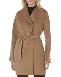 T Tahari Ella Belted Coat - Natural