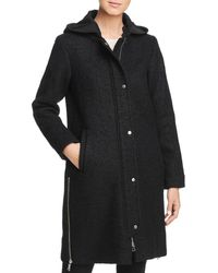 Vince Camuto - Hooded Side Zip Coat - Lyst