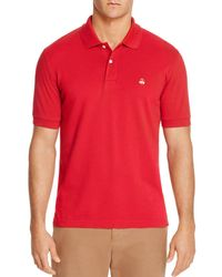 Brooks Brothers Slim Fit Pique Polo Shirt - Red