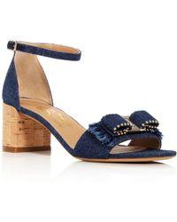 Ferragamo - Gavina 55 Denim Sandals - Lyst