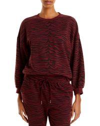 Pistola Cherry Tiger Print Sweatshirt - Red