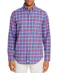Vineyard Vines Schooner Flannel Classic Fit Button - Down Shirt - Blue