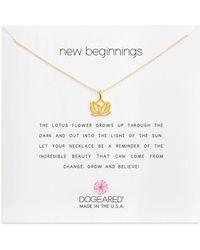 Dogeared New Beginnings Necklace - Metallic