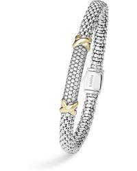 Lagos - Diamond Lux 18k Gold Diamond Pave Large Bracelet, .65 Ct. T.w. - Lyst