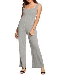 Chaser Wide - Leg Jumpsuit - Gray