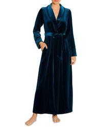 Jonquil Olivia Velvet Robe - Blue