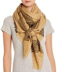 Jane Carr Woven Wool Scarf - Natural