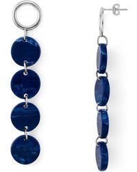 Argento Vivo - Disc Linear Drop Earrings - Lyst