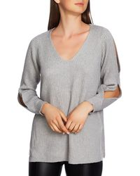 1.STATE - Cutout Sleeve Ribbed Jumper - Lyst