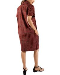 Ingrid & Isabel Everywhere Checked Maternity Dress - Red