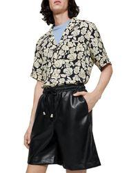 Nanushka Doxxi Vegan Leather Boxer Style Shorts - Black