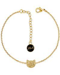 Karl Lagerfeld - Silhouette Choupette Bracelet - Lyst