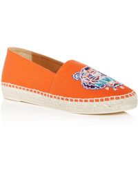 KENZO - Women's Tiger Embroidered Espadrille Flats - Lyst
