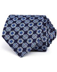Turnbull & Asser - Floret-medallion Silk Classic Tie - Lyst