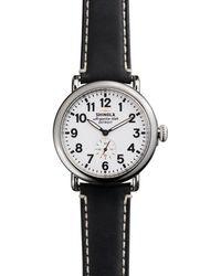 Shinola The Runwell Black Strap Watch