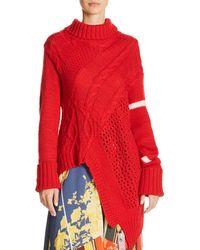 Preen Line - Asymmetric Turtleneck Sweater - Lyst