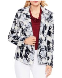 Vince Camuto - Faux-fur Houndstooth Blazer - Lyst