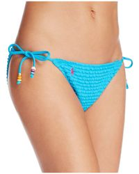 Ralph Lauren - Ruffled Side Tie Bikini Bottom - Lyst