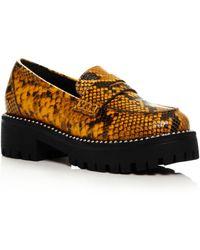 Aqua Women's Bela Studded Platform Loafers - Multicolor