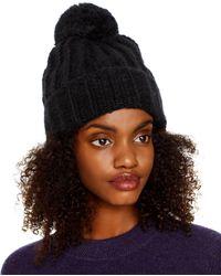 Inverni Invenri Pom - Pom Knit Hat - Black
