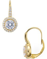 Nadri - Framed Leverback Earrings - Lyst