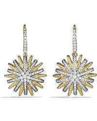 David Yurman - Starburst Drop Earrings With Diamonds - Lyst