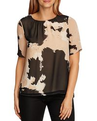 Vince Camuto Abstract Cow Print Top - Multicolor