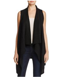 C By Bloomingdale's - Cashmere Open Long Vest - Lyst