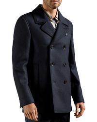 Ted Baker Summit Wool Blend Peacoat - Blue