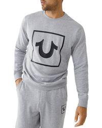True Religion Horseshoe Crewneck Sweatshirt - Grey