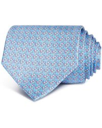 Ferragamo Overlapping Gancini Silk Classic Tie - Blue
