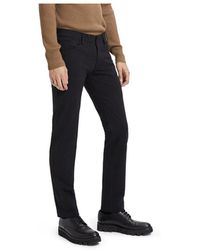 Theory Tech Raffi Compact Straight Slim Fit Ponte Trousers - Black