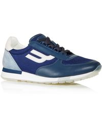 Bally Panelled Trainers - Blue