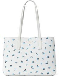 Kate Spade All Day Large Dainty Bloom Tote - White