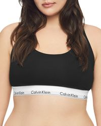 bde3e01cbc Calvin Klein - Plus Modern Cotton Unlined Racerback Bralette - Lyst