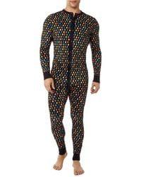 2xist Cotton Jumpsuit Pyjamas - Black