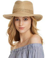 db23f9bd408b7 Eric Javits Squishee Iv Short Brim Sun Hat in Blue - Lyst