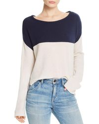 ATM - Color - Blocked Cashmere Sweater - Lyst