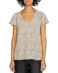 Sanctuary Now And Forever Leopard Print Top - Multicolour