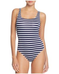 Tommy Bahama - Brenton Lace-up Back Stripe One Piece Swimsuit - Lyst