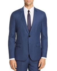 HUGO Arti Birdseye Extra Slim Fit Suit Jacket - Blue
