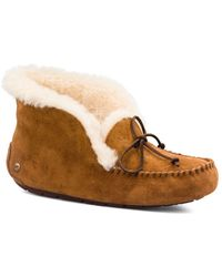 200e5b3f491 Alena Suede Slippers - Brown ... Info Kick back in the comfort with Ugg's  camel-hued Alena slippers. Lined with wool, this supple suede pair is ...