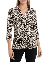 Vince Camuto - Leopard Print Top - Lyst