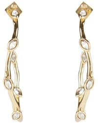 Alexis Bittar Waved Crystal Hoop Earrings - Metallic